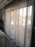 ľanová záclona, natur záclona, záclona s krajkou, prírodná záclona
