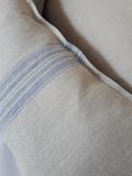 Ľanová obliečka na vankúš Blue Stripes