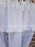Ľanová záclona Romantic White