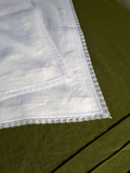 Biely ľanový obrus Elegance