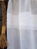 ľanová záclona, romantická záclona, záclona, biela záclona, záclona s krajkou