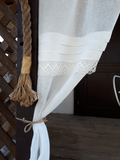 ľanová záclona, záclona, smotanová záclona, záclona do spálne, prírodná záclona