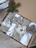 Ľanový obrúsok Natur Christmas