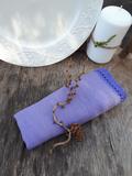 Ľanový obrúsok fialový