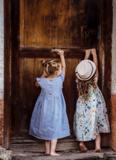 Detské ľanové šaty Amélia