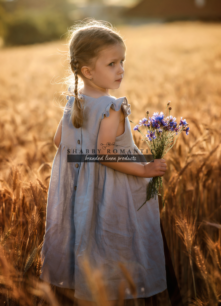 dce919f0f Detské ľanové šaty Amélia - www.shabbyromantic.sk