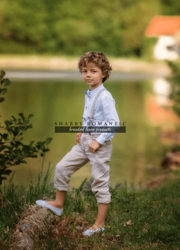 Ľanové chlapčenské nohavice