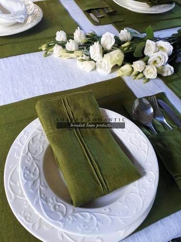 Ľanový obrúsok Obsession Green