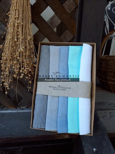 Darčeková sada Linen Towels Lime