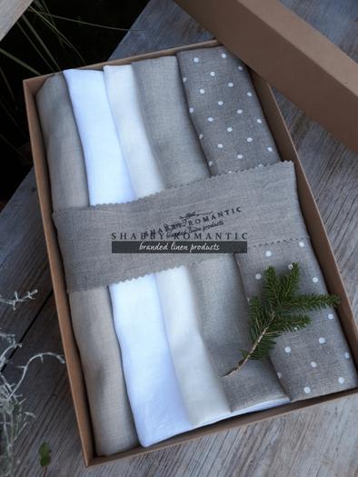 Darčeková sada Linen Towels Natural