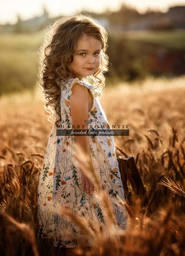 Detské ľanové šaty Melisa