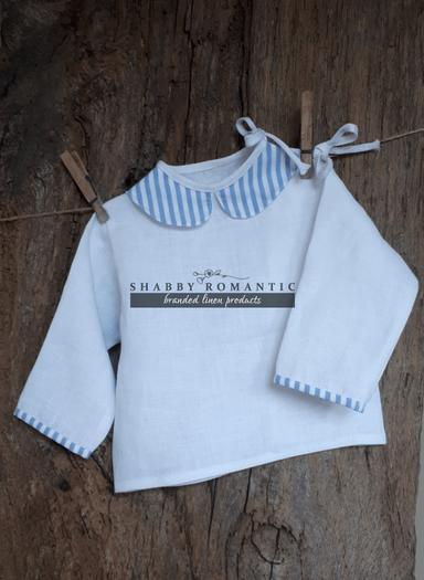 Ľanová košielka Blue Stripes