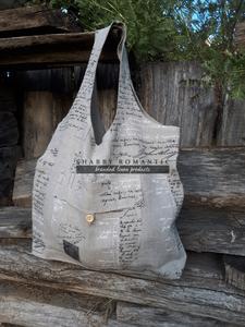 Ľanová nákupná taška Manuscrit