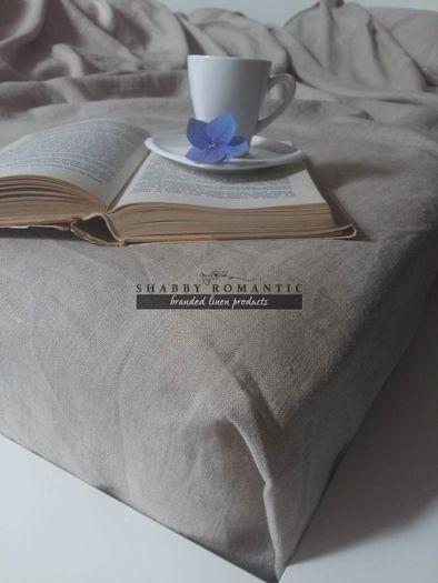 Ľanová plachta na posteľ
