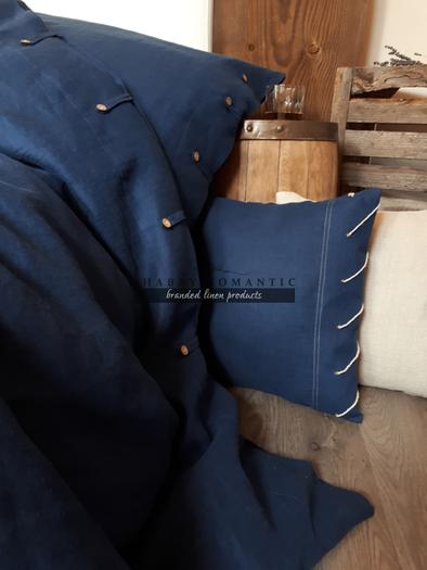 Ľanové obliečky Perfect Look Marine Blue