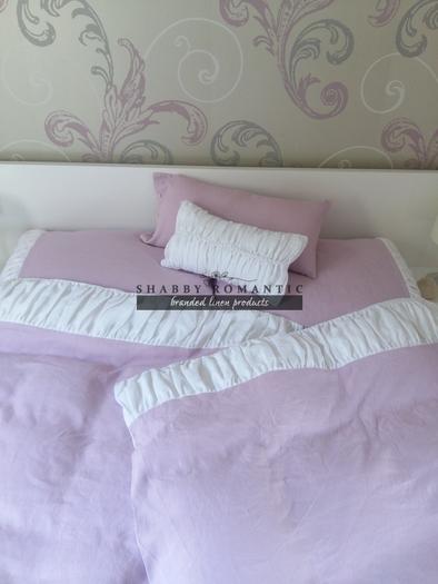 Ľanové posteľné obliečky Romantic Roses