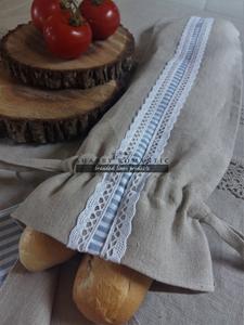 Ľanové vrecko na bagety Mediteran Style