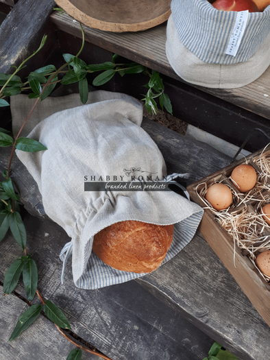 Ľanové vrecko na chlieb Linen Memories