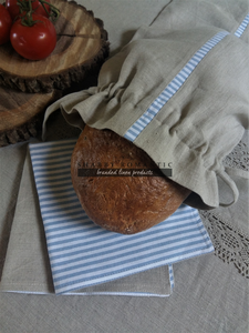 Ľanové vrecko na chlieb Mediteran Style