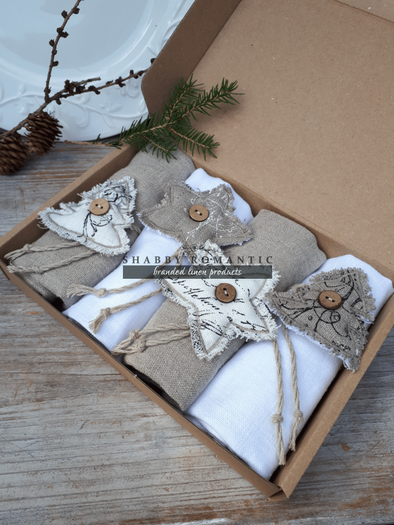Sada obrúskov Natur Christmas